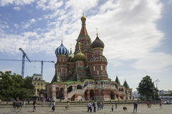Saint Basils Cathedral at the Red Square Royalty Free Stock Images