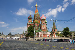 Saint Basils Cathedral at the Red Square Stock Photography
