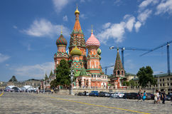 Saint Basils Cathedral at the Red Square Stock Image