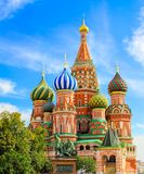 Saint Basils cathedral on Red Square in Moscow Royalty Free Stock Photos