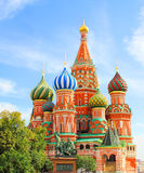 Saint Basils cathedral on Red Square in Moscow Stock Photography