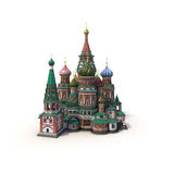 Saint Basils Cathedral on White 3D Illustration Royalty Free Stock Photo