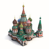 Saint Basils Cathedral on White 3D Illustration Royalty Free Stock Photography