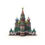 Saint Basils Cathedral on White 3D Illustration Stock Photos