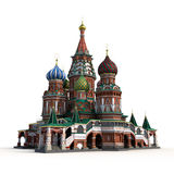 Saint Basils Cathedral on White 3D Illustration Royalty Free Stock Images