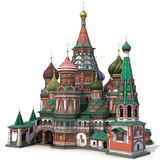 Saint Basils Cathedral on White 3D Illustration Royalty Free Stock Photos