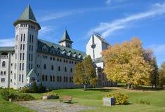 Saint Benedict Abbey in Saint-Benoit-du-Lac Stock Image