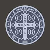 Saint benedict medall Royalty Free Stock Photo