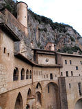 The Saint Benedicts Monastery in Italy Stock Images