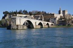 Saint-Benezet bridge and Avignon city Stock Image