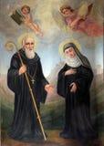 Saint Benoît et saint Scholastica images stock