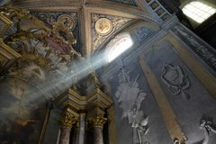 Saint Benoit Church, Castres, Tarn, France stock photography