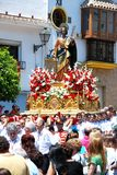 Saint Bernard Float, Marbella, Spain. Stock Image
