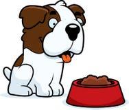 Saint Bernard Food dos desenhos animados Imagem de Stock Royalty Free