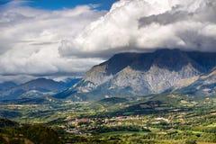 Saint Bonnet en Champsaur in Summer . Alps, Champsaur, France Stock Images
