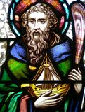 Saint Brendan. Stained glass image of Saint Brendan Royalty Free Stock Photo