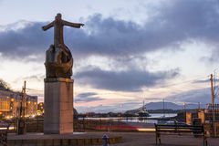 Saint Brendan Statue Bantry Photos libres de droits