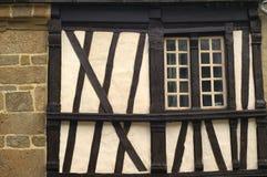 Saint-Brieuc (Brittany): half-timbered house Stock Image