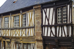 Saint-Brieuc (Brittany): half-timbered houses Royalty Free Stock Photos