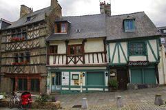 Saint-Brieuc (Brittany): half-timbered houses Royalty Free Stock Photo