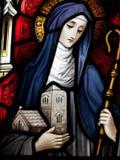 Saint Brigid of Kildare stock photos