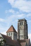 Saint Brise Church in Tournai, Belgium Stock Images