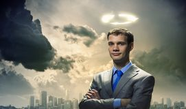 Saint businessman Royalty Free Stock Images