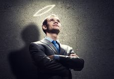 Saint businessman Royalty Free Stock Photography