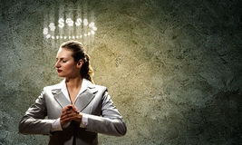 Saint businesswoman Stock Photography