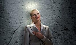 Saint businesswoman Stock Image