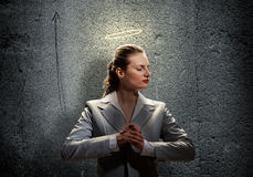 Saint businesswoman Royalty Free Stock Images