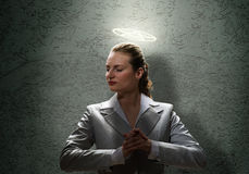 Saint businesswoman Royalty Free Stock Photography