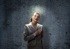 Saint businesswoman Royalty Free Stock Photography