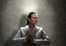 Saint businesswoman Stock Photos