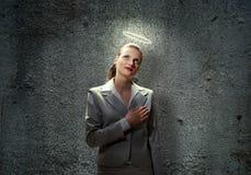 Saint businesswoman Royalty Free Stock Image