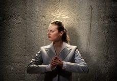 Saint businesswoman Stock Photography