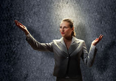 Saint businesswoman Royalty Free Stock Image