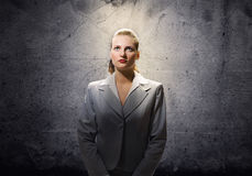 Saint businesswoman Royalty Free Stock Photo