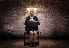 Saint businesswoman Stock Photo