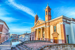 Saint Camillo Hospital in Comacchio, the little Venice Royalty Free Stock Photography