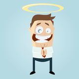 Saint cartoon man Stock Photos