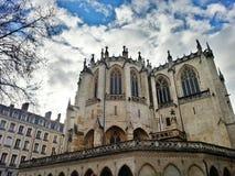 Saint católico Nizier de Egils Paroisse, cidade velha de Lyon, França Fotos de Stock