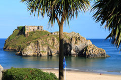 Saint Catherines Island, Tenby. stock images