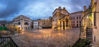 Saint Catherine de panorama d'église de l'Italie Image stock