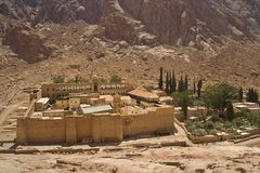 Saint Catherine Monastery, Mount Sinai. In Egypt Stock Photo