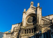 Saint Catherine`s Church combining few architectural styles. Built in the 15th century but completely redesigned between 1854 and 1859 by the famous artist Royalty Free Stock Images