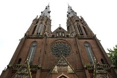 Saint Catherine`s church at Eindhoven, Netherlands.  stock photography