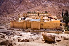 Saint Catherine's Monastery. On the Sinai Peninsula, Egypt royalty free stock images