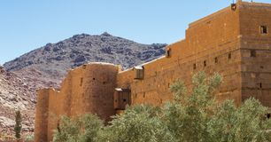 Saint Catherine's Monastery. Fortified wall of the monastery of St. Catherine. It was founded in the IV century in the heart of the Sinai peninsula at the foot Stock Photo