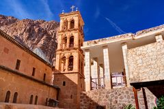 Saint Catherine`s Monastery in Sinai moumtains, Egypt.  royalty free stock image